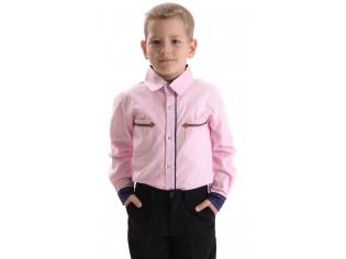 Рубашка мальчик №202 розовая
