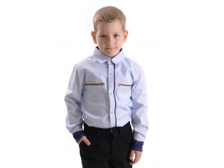 Рубашка мальчик №202 голубая