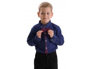 Рубашка мальчик №209 синяя