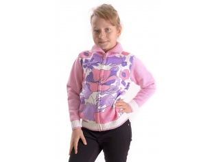 Кофта девочка №882 розовая