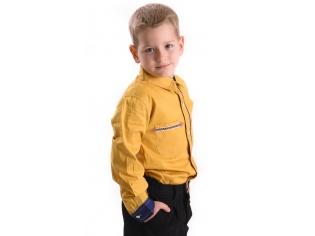 Рубашка мальчик №202 горчичная