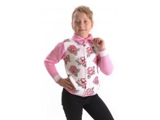 Кофта девочка №7001 розовый
