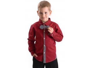 Рубашка мальчик №209 красная
