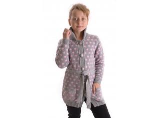 Кардиган  девочка №9801 серый