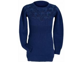 Платье вязанное  девочка №81154 синий