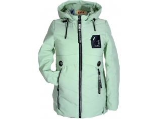 Куртка девочка №66-373 салатовая