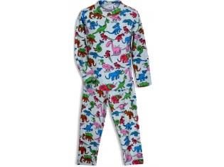 Пижама утеплённая мальчик №4336 серая