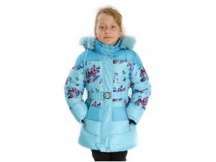 Куртка девочка №YX-12 бирюзовая