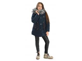 Куртка девочка №66-291 синяя
