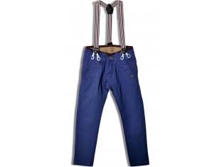 Брюки №K01 синие с подтяжками