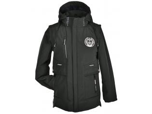 Куртка мальчик №8807 зеленая