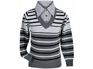 Свитер-обманка мальчик №8320 серый