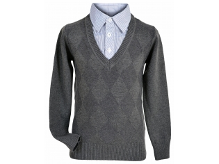 Свитер-обманка мальчик №8147 серый