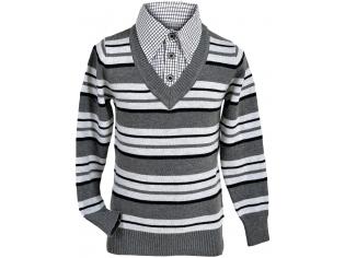 Свитер-обманка мальчик №8609 серый