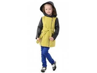 Пальто девочка № 3037S желтое